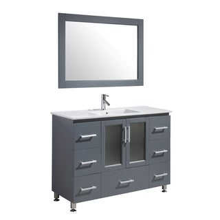 Design Element Stanton 48-inch Single Sink Vanity Set in Grey Finish