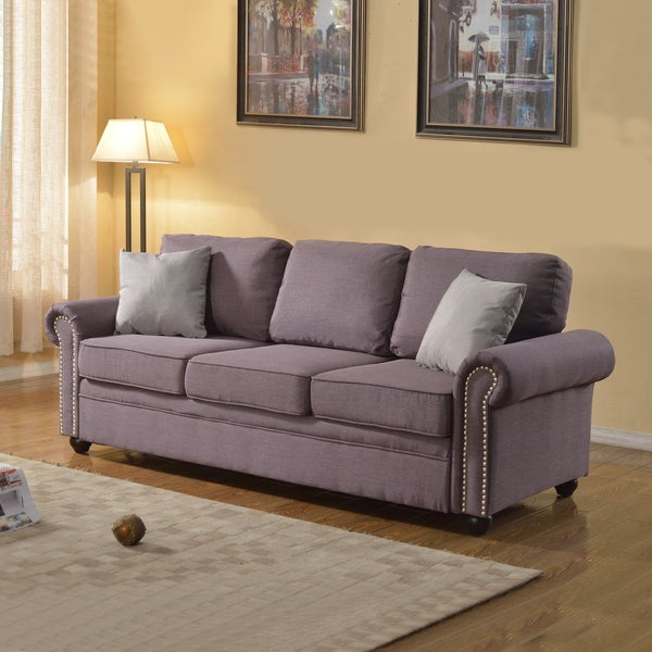 Grey Linen Chesterfield Sofa Traditionally Designed Dark Grey Linen Sofa  With Classic