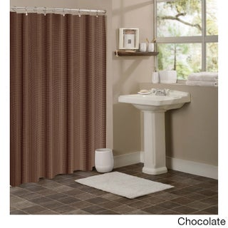 Dainty Home Hotel Collection Waffle Shower Curtain (Option: Coffee)