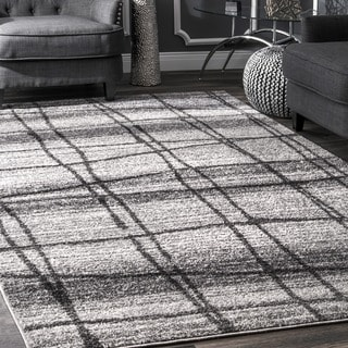 nuLOOM Contemporary Trellis Grey Rug (5' x 8')