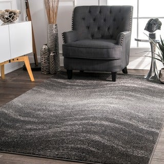 nuLOOM Contemporary Ombre Waves Grey Rug (5' x 8')