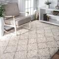 nuLOOM Soft and Plush Moroccan Trellis Natural Shag Rug (8'6 x 11'6)