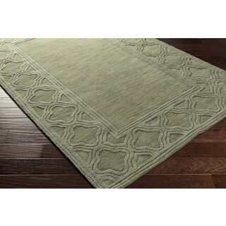 Hand-loomed Halstead Wool Area Rug (8' x 11') (Option: Olive)