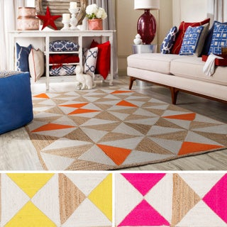 Hand-Woven St.Ives Geometric Reversible Jute Rug (5' x 7'6)