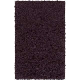 Hand-Woven Kirkham Solid New Zealand Wool Area Rug - 5' x 8'