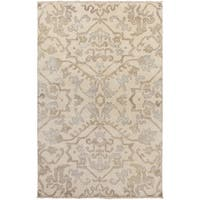 Hand-Knotted Keswick Floral New Zealand Wool Area Rug - 5'6 x 8'6