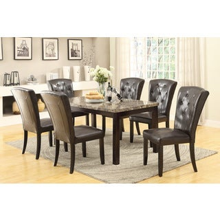 Product on Greyson Living Madaleine Counter Height Marble Veneer Dining Set