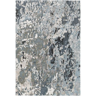 Hand-Knotted Hingham Abstract Viscose Rug (6' x 9')