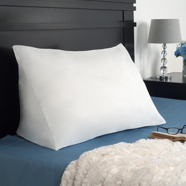 Shop Remedy Down Alternative Reading Wedge Pillow White