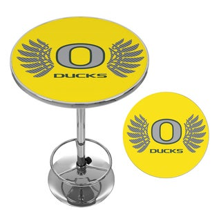 University of Oregon Chrome Pub Table - Wings