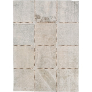 Hand-Crafted Thirsk Crosshatched Indoor Cotton Rug (5' x 7'6)