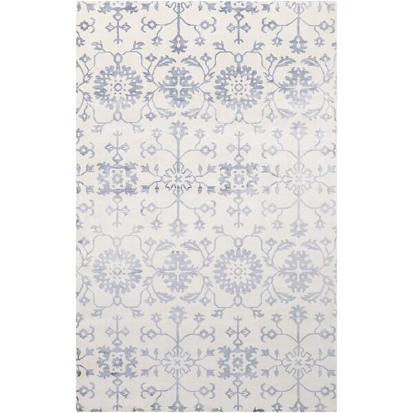 Hand-Loomed Northam Floral Indoor Viscose Area Rug (5' x 8') - 5' x 8'
