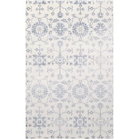 Hand-Loomed Northam Floral Indoor Viscose Area Rug - 5' x 8'