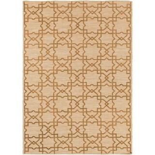 -Hand-Woven Ipswich Geometric Cotton Rug (5' x 7'6)
