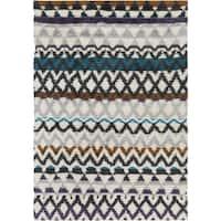 Hand-Woven Hornsey Tribal New Zealand Wool Area Rug - 5' x 8'