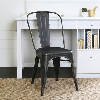 Metal Cafe Chair - Antique Black
