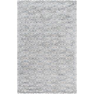Hand-Woven Grimsby Geometric Viscose Rug (6' x 9')