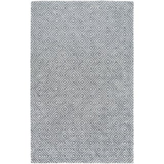 Hand-Woven Glossop Geometric Viscose Rug (6' x 9')