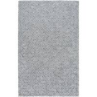 Hand-Woven Glossop Geometric Viscose Area Rug - 6' x 9'