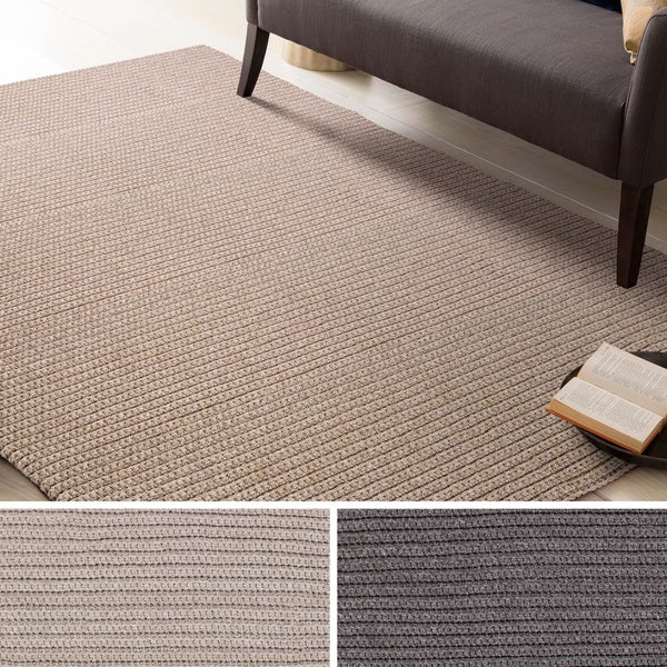 Hand-Woven Harwich Solid Polypropylene Rug (5' x 7'6)