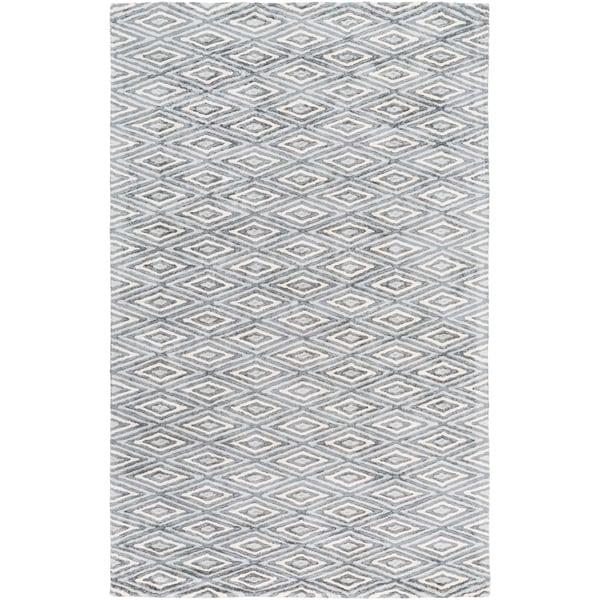 "Hand-Woven Grimsby Geometric Viscose Area Rug - 5' x 7'6"""