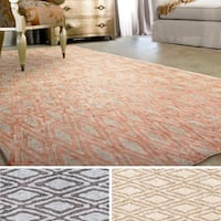 Hand-Woven Gosport Geometric Viscose Area Rug