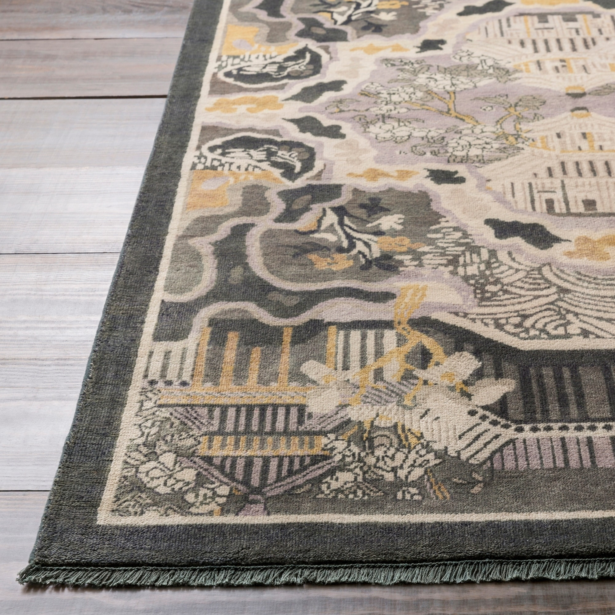 Hand Knotted Arundel Print Reversible Wool Area Rug On Sale Overstock 10522123