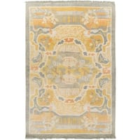 Hand-Knotted Arundel Print Reversible Wool Area Rug (5' x 8')