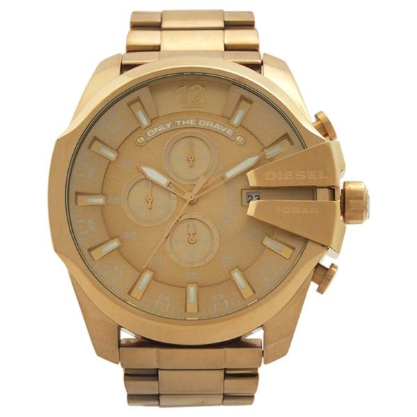 Diesel Men's DZ4360 'Mega Chief' Chronograph Gold-Tone Stainless Steel Watch