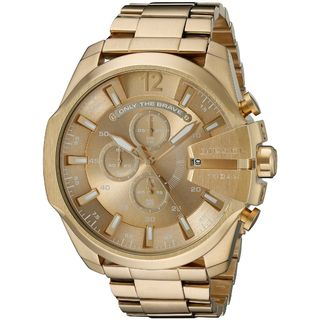 Diesel Men's DZ4360 'Mega Chief' Chronograph Gold-Tone Stainless Steel Watch