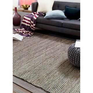 Hand-Woven Aylsham Stripe Indoor Jute Rug (5' x 7'6)