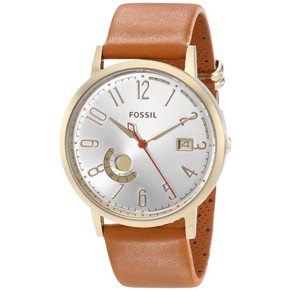 Fossil women 39 s es3750 39 vintage muse 39 brown leather watch for Overstock free returns