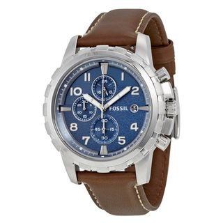 Fossil Men's FS5022 'Dean' Chronograph Brown Leather Watch