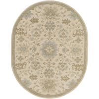 Copper Grove Kavir Hand-Tufted Floral Wool Area Rug (6' x 9' Oval)
