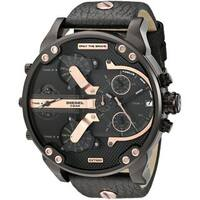 Diesel Men's  'Mr. Daddy 2.0' Chronograph 4 Time Zones Black Leather Watch