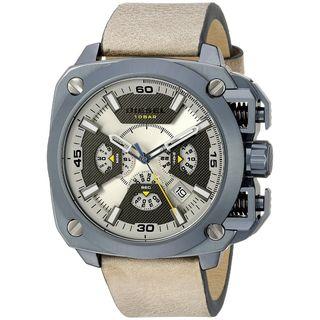 Diesel Men's DZ7342 'BAMF' Chronograph Brown Leather Watch