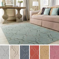 Hand-Stitched Jaelyn Moroccan Trellis Wool Area Rug (5' x 7'6)