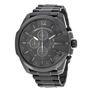 Diesel Men's DZ4355 'Mega Chief' Chronograph Black Stainless Steel Watch