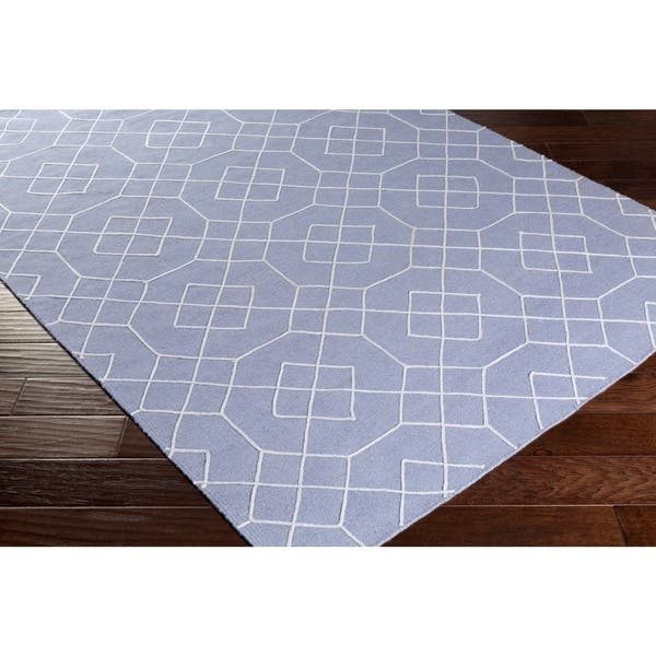 Hand Stitched Javier Geometric Wool Area Rug Overstock 10522164