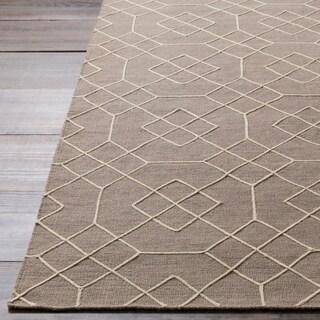Hand-Stitched Javier Geometric Wool Rug (5' x 7'6)