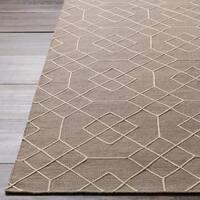 Hand-Stitched Javier Geometric Wool Area Rug (5' x 7'6)