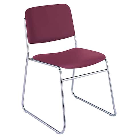 KFI 310 Vinyl Upholstered Sled Base Armless Stacking Chair