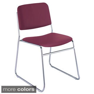310 Vinyl Upholstered Sled Base Armless Stacking Chair