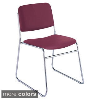 KFI Seating 310 Vinyl Upholstered Sled Base Armless Stacking Chair