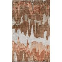 Hand-Tufted Gabriel Abstract Banana Silk Area Rug - 5' x 8'