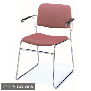 311 Upholstered Sled Base Stacking Chair