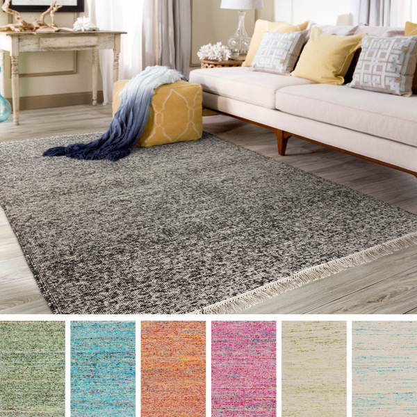 Hand-Woven Luther Solid Viscose Area Rug (9' x 12')