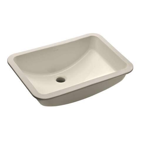 KOHLER Ladena Undermount Bathroom Sink with Glazed Underside in Biscuit