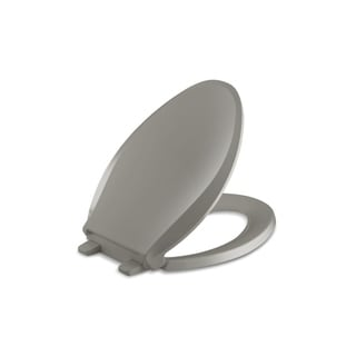 Kohler Cachet Quiet-close Elongated Closed-front Toilet Seat with Grip-tight Bumpers in Cashmere