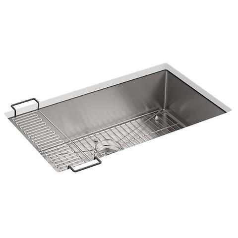 """Kohler Strive 32""""X18-5/16""""X9-5/16"""" Kitchen Sink with Accessories"""